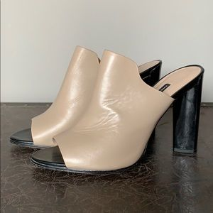 French Connection 2 tone leather chunky heel